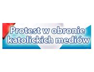 Protest w obronie katolickich mediów